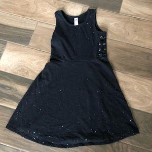 Justice girls sparkle glitter skater dress